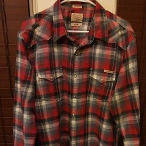 LUCKY BRAND MEN'S SLIM FIT LONG SLEEVE SHIRT LARGE